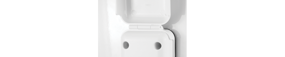 Maxview Sat-buitenstopcontact Twin F- / F-  B2008 kleur wit -