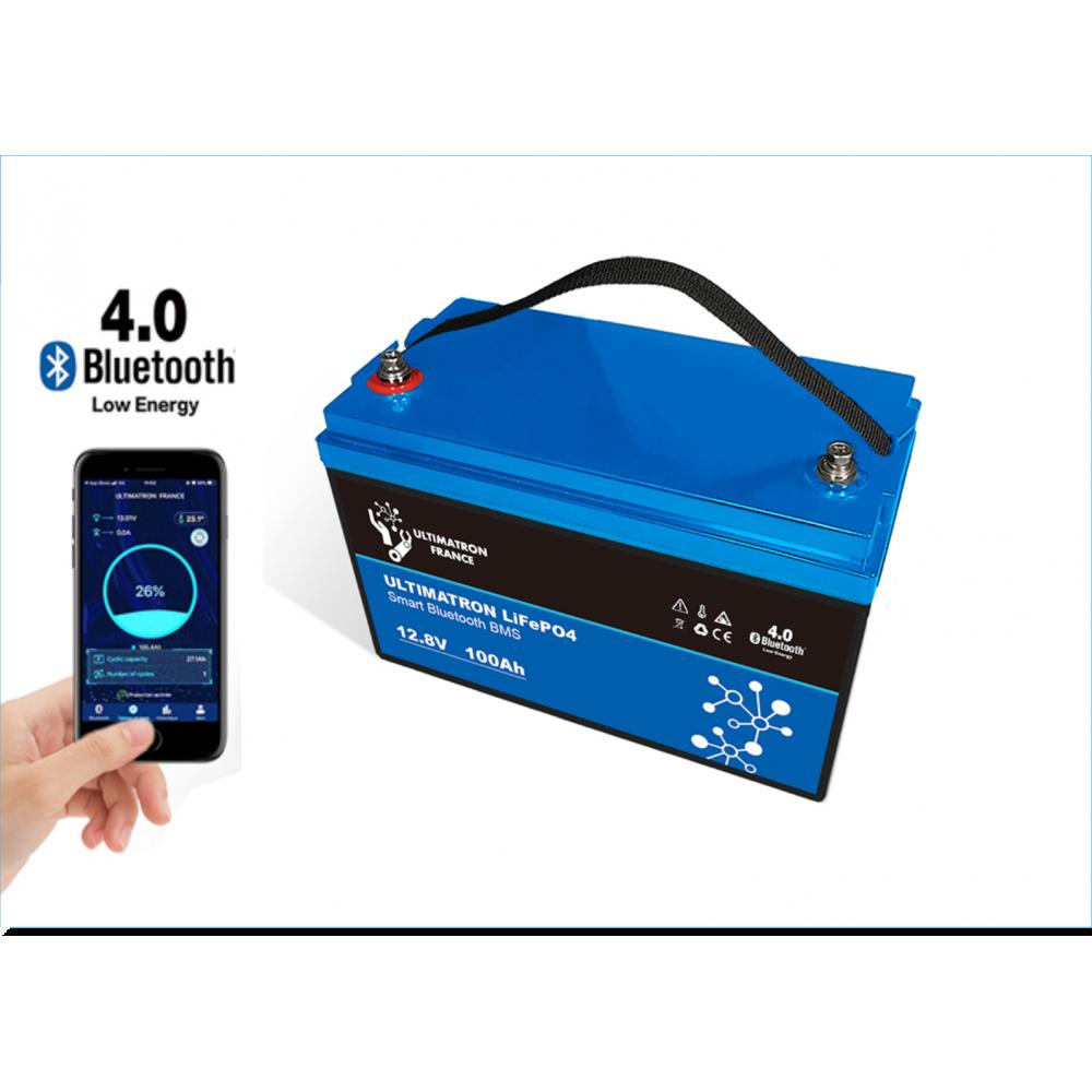Ultimatron LiFePO4 12,8V 100Ah met Smart BMS 1280Wh (1305Wh) -