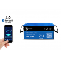 Ultimatron LiFePO4 12,8V 150Ah met Smart BMS 1920W -