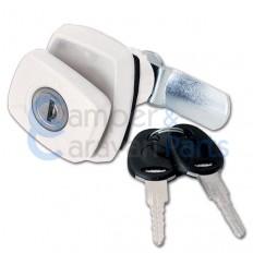 FAP Compressie Push-lock Luikslot Rechthoekig Wit - Incl. Sleutels en cilinders