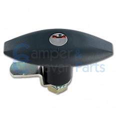 Zadi Draaibaar Luikslot Ovaal - 110 mm zwart