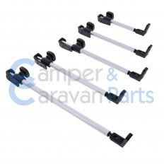 Polyplastic 300 Serie (schroef) | Raamuitzetters buis zwart incl. montagevoet -