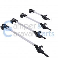 Polyplastic 300 Serie (schroef) | Raamuitzetters buis zwart incl. grendel -