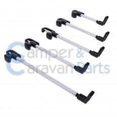 Polyplastic 400 Serie (polyfix) | Raamuitzetters buis zwart incl. montagevoet -