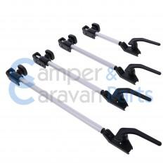 Polyplastic 400 Serie (polyfix) | Raamuitzetters buis zwart incl. grendel -