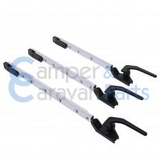 Polyplastic 400 Serie (polyfix) | Raamuitzetters klik zwart incl. grendel -