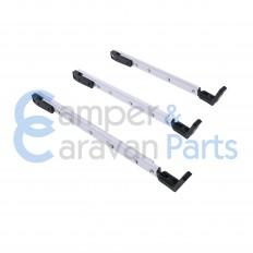 Polyplastic 300 Serie (schroef) | Raamuitzetters klik zwart incl. montagevoet -