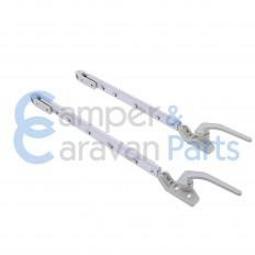 Polyplastic 300 Serie (schroef) | Raamuitzetters klik grijs incl. grendel -