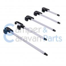 Polyplastic 100 t/m 400 Serie (universeel) | Raamuitzetters buis zwart excl. grendel/montagevoet -