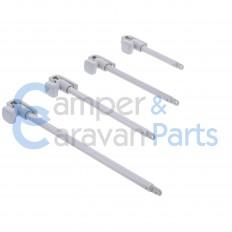 Polyplastic 100 t/m 300 Serie (universeel) | Raamuitzetters buis grijs excl. grendel/montagevoet -
