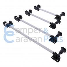 Polyplastic 200 Serie (schroef) | Raamuitzetters buis zwart incl. grendel -