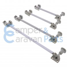 Polyplastic 200 Serie (schroef) | Raamuitzetters buis grijs incl. grendel -