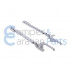 Plastoform 100 Serie | Raamuitzetters klik grijs incl. grendel -