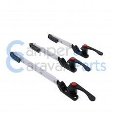 Plastoform 200 Serie | Raamuitzetters klik zwart incl. grendel met rode drukknop -