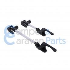 Plastoform 600 Serie   Raamuitzetters buis zwart incl. grendel (38 mm lip) -
