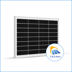 C &C Parts SOLAR PANEL 50W-12V MONOCRYSTALLINE -
