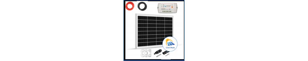 C & C Parts SOLAR PANEL 50W-12V SET montage klaar -