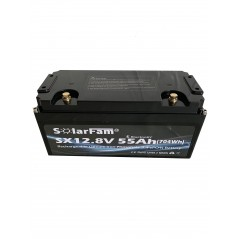 Solarfam 12 Volt 55Ah LiFePo4 Lithium Accu -