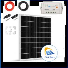 C & C Parts SOLAR PANEL 80W-12V SET montage klaar -