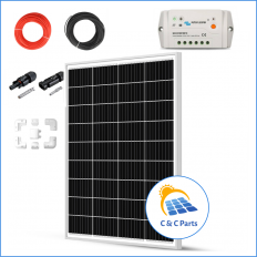 C & C Parts SOLAR PANEL 100W-12V SET montage klaar -