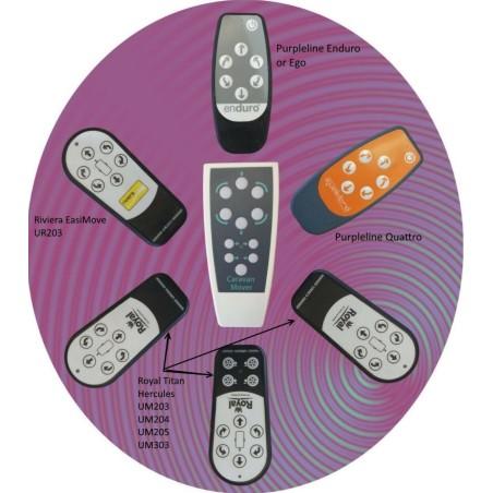 Afstandsbediening  Enduro en purpleline movers -