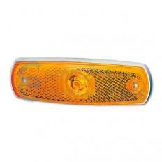 Hella zijmarkeringslicht oranje 126x38x11 mm -