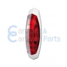Hella breedtelicht rood-wit 122,2x39,2x28,6 mm -