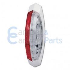 Hella breedtelicht rood/wit rechts - met wit frame -