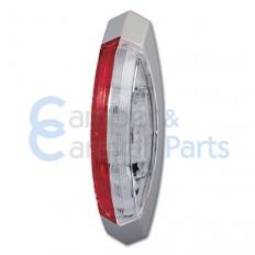 Hella breedtelicht rood/wit rechts - met grijs frame -