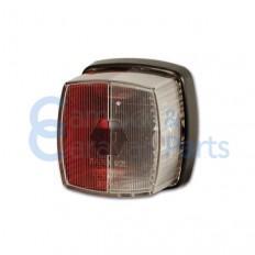 Breedtelicht rood/wit 65x62x40 mm -
