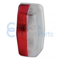 Breedtelicht rood/wit 85x45x35 mm -