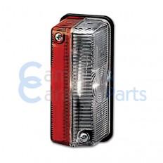 Breedtelicht rood/wit 90x40x38 mm -