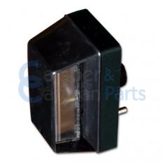 Kentekenverlichting 117x60x67 mm links -