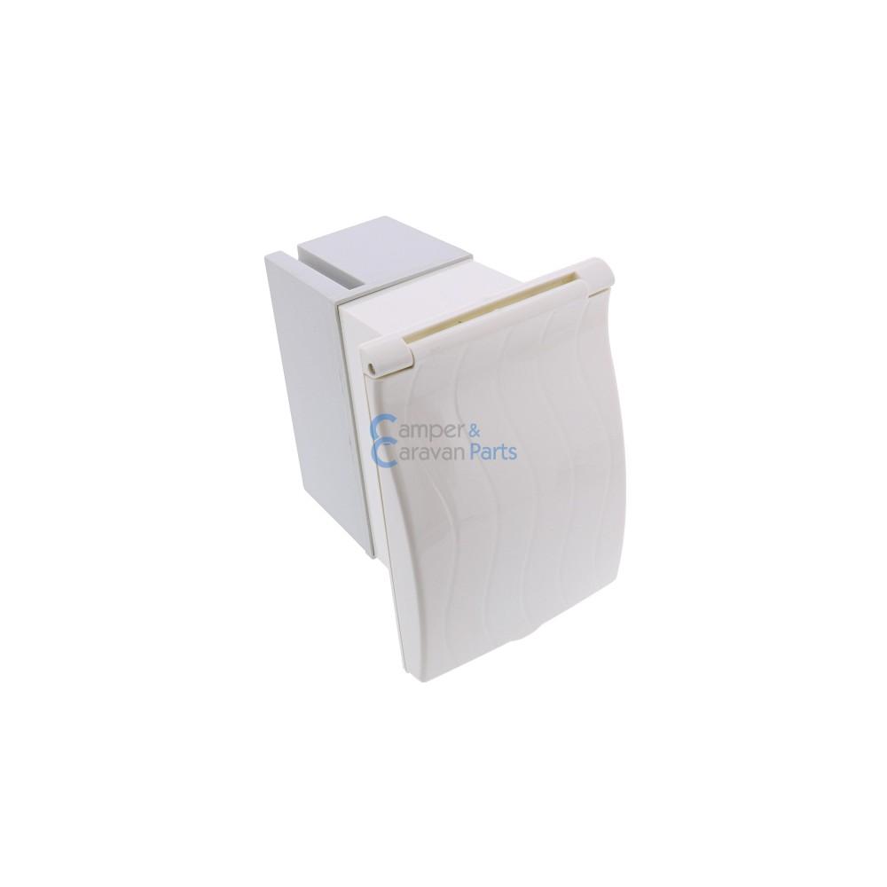Cee doos Wit  met zekeringautomaat /aardlekschakelaar -