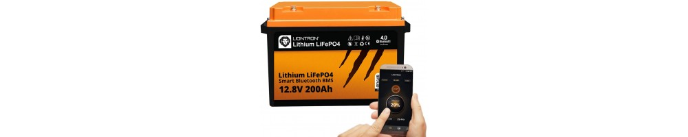 LIONTRON LiFePO4 12.8V 200Ah LX Smart BMS met Bluetooth -