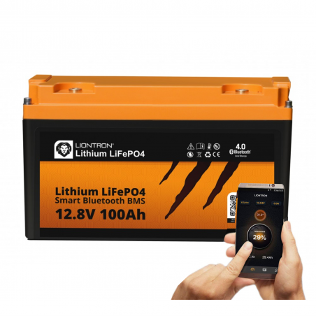 LIONTRON LiFePO4 12,8V 100Ah LX Smart BMS mit Bluetooth -